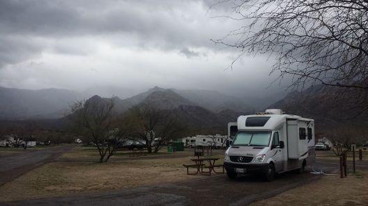 Today in the desert wet wet wet.