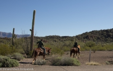 Border Patrol on horseback