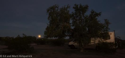 Full Moon, Gunsight Wash, boondocking on BLM land outside of Why, AZ