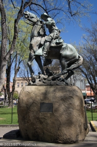 In Prescott, memorial to Roosevelt's Rough Riders, the Arizona 1st Cavalry