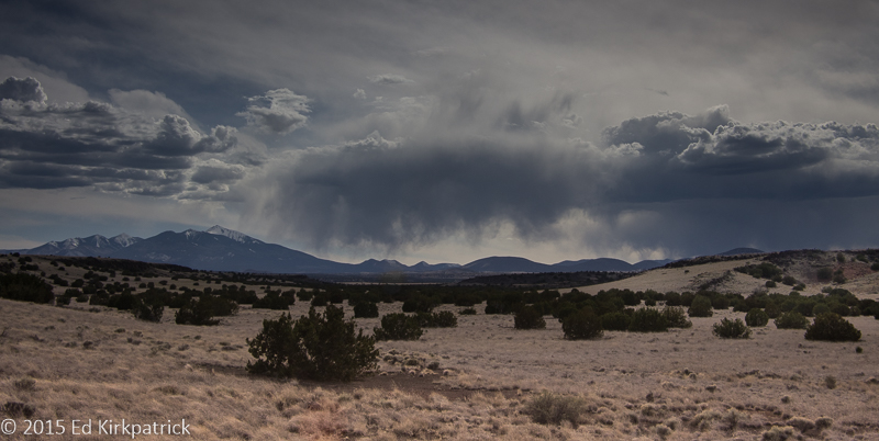 Virga falling over the San Francisco Peaks...