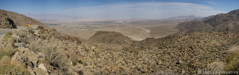 3000 feet below is Borrego Springs