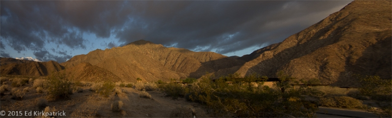 The calm of morning after a night of howling winds at Anza-Borrego Desert State Park. They started back up around mid morning.
