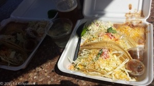 Fish Tacos at Point Loma Seafood for lunch