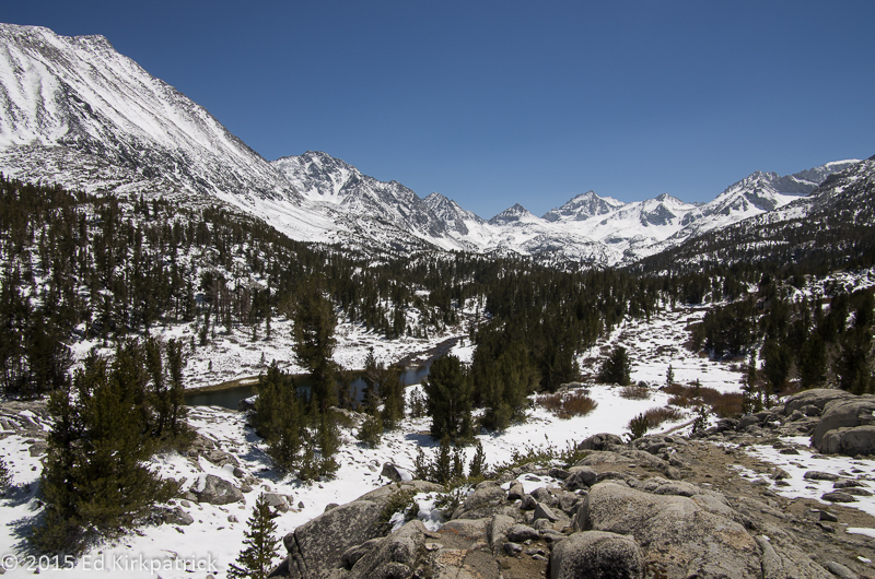 Little Lakes Valley, John Muir Wilderness on Mother's Day 2015