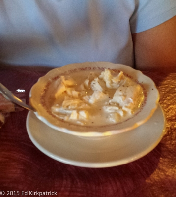 Fish chowder at Uncle Kippy's in Lubec.  It was ALL haddock...
