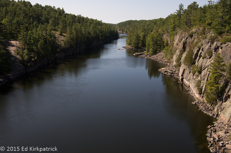 French River from the bridge.