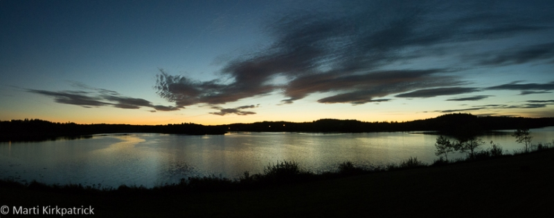 The beautiful twilight sky at our campsite in Lubec.