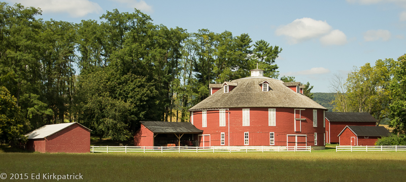 A beautiful, pristine round barn near State College, PA. Don't see these often.