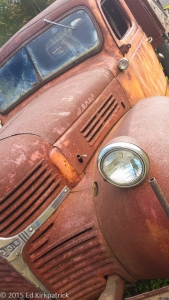 An old truck at the cranberry farm.