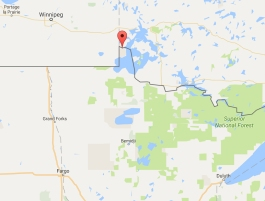 Northwest Angle Map